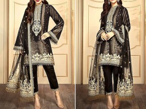 Luxury Embroidered Lawn Dress 2020 with Chiffon Dupatta