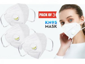 Pack of 3 Reusable KN95 Masks with Filter Price in Pakistan