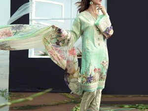 Heavy Neck Embroidered Lawn Dress with Lawn Dupatta Price in Pakistan