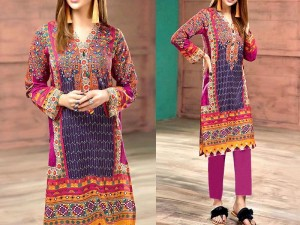 Multicolor Embroidered Lawn Dress 2020 with Lawn Dupatta Price in Pakistan