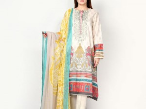 Embroidered Lawn Suit with Lawn Dupatta Price in Pakistan