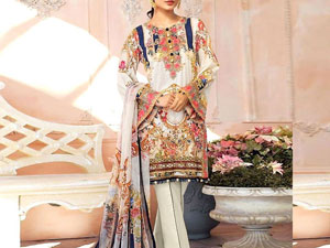 Embroidered Lawn Dress 2020 with Lawn Dupatta Price in Pakistan