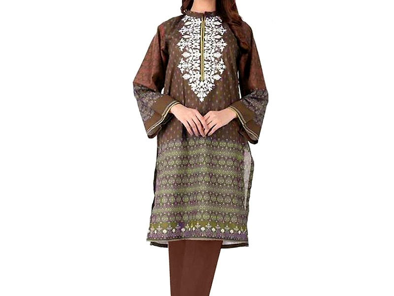 Heavy Embroidered Lawn Dress with Lawn Dupatta Price in Pakistan