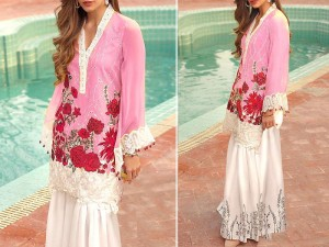 2-Pcs Heavy Sequins Embroidered Lawn Dress