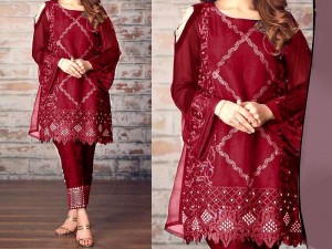 2-Pcs Heavy Embroidered Lawn Dress 2020 Price in Pakistan