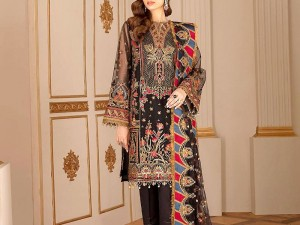 Heavy Embroidered Masoori Lawn Dress with Chiffon Dupatta Price in Pakistan