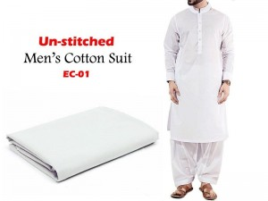 Unstitched Men's Soft Egyptian Cotton Shalwar Kameez Price in Pakistan