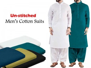 Pack of 2 Unstitched Soft Egyptian Cotton Suits of Your Choice
