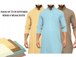 Pack of 3 Unstitched Wash n Wear Suits of Your Choice Price in Pakistan