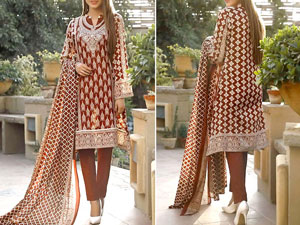 VS Classic Lawn Suit 2020 with Lawn Dupatta