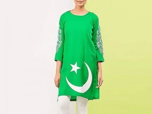 14 August Independence Day Kurti with Tights