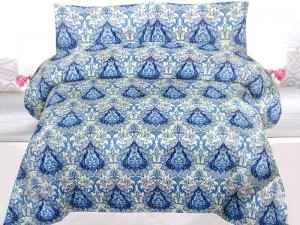 King Size Crystal Cotton Bed Sheet with 2 Pillow Covers Price in Pakistan