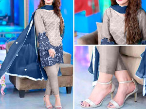 Embroidered Cotton Dress with Bamber Chiffon Dupatta Price in Pakistan