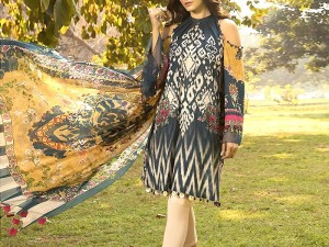 Embroidered Linen Dress 2020 with Linen Dupatta Price in Pakistan