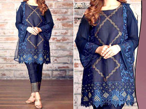 2-Pcs Heavy Embroidered Linen Dress 2020 Price in Pakistan