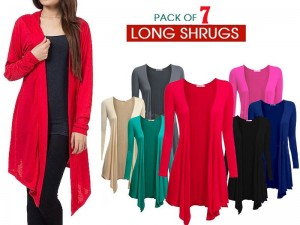 7 Women's Cotton Shrugs Bundle Pack Price in Pakistan