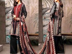 Heavy Neck Embroidered Linen Dress with Wool Shawl Dupatta Price in Pakistan