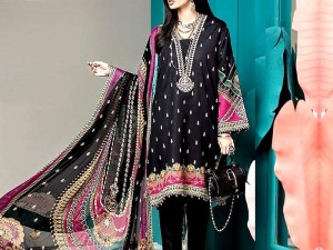 Heavy Embroidered Kotail Linen Dress with Wool Shawl