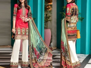 Luxury Embroidered Kotail Linen Dress with Wool Shawl Price in Pakistan
