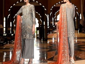 Heavy Embroidered Chiffon Wedding Dress 2020 Price in Pakistan