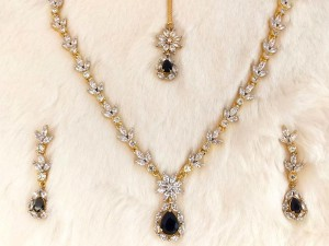 Imitation Black Stone Jewelry Set for Wedding Price in Pakistan