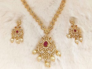 Gold Plated Artificial Bridal Jewellery Set Price in Pakistan