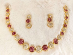 Indian AD Stones Jewelry Set