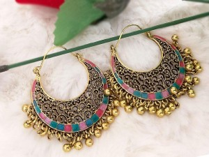 Antique Golden Color Fashion Earrings Price in Pakistan