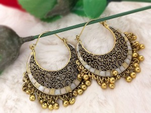 Antique Golden Fashion Earrings Price in Pakistan