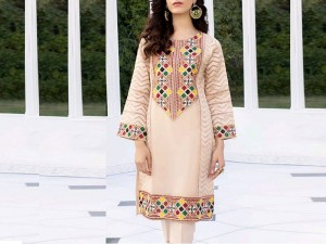 Elegant Embroidered Organza Kurti with Inner Price in Pakistan