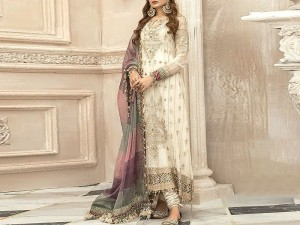 Handwork Heavy Embroidered Organza Jacquard Dress