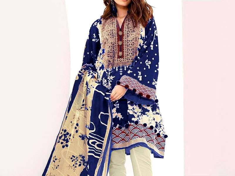 Embroidered Marina Linen Dress with Marina Dupatta Price in Pakistan