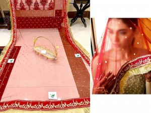 Qubool Hai Embroidered  Net Nikkah Dupatta Price in Pakistan