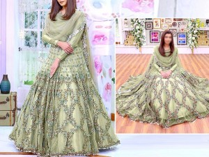 Heavy Handwork & Mirror Work Embroidered Masoori Maxi Dress Price in Pakistan