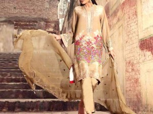 Embroidered Khaddar Dress with Wool Shawl Price in Pakistan