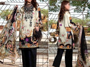 Embroidered Khaddar Dress with Wool Shawl