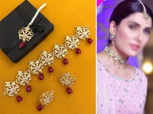 Elegant Golden Jewellery Set Price in Pakistan
