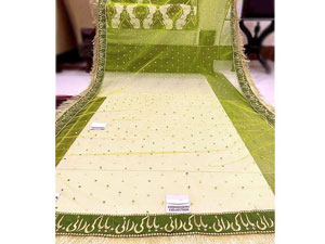 Baba Ki Rani Embroidered Net Mehndi Dupatta Price in Pakistan