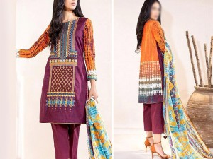Embroidered Linen Dress 2020 with Wool Shawl Price in Pakistan