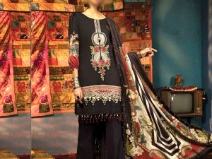 Embroidered Marina Dress with Wool Shawl Dupatta Price in Pakistan