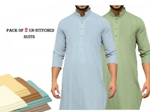 Pack of 2 Libas-e-Khas Men's Shalwar Kameez of Your Choice Price in Pakistan