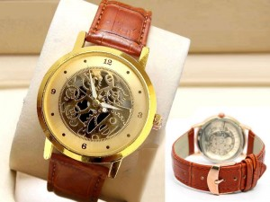 Elegant Leather Strap Men's Watch Price in Pakistan
