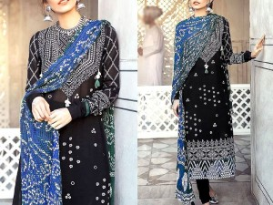 Embroidered Cotton Dress with Silk Dupatta Price in Pakistan