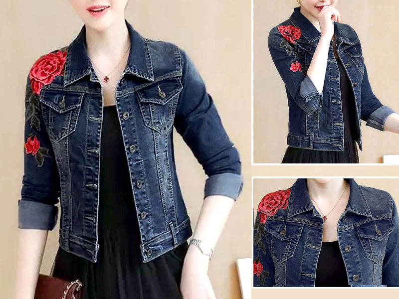 Stylish Blue Denim Jacket for Ladies
