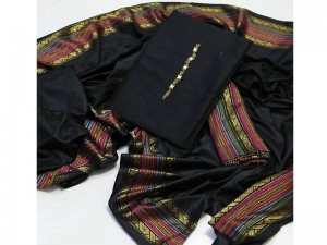 Traditional 3-Pieces Black Sussi Dress Price in Pakistan