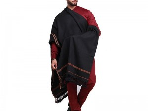 Traditional Men's Winter Shawl - Black Price in Pakistan