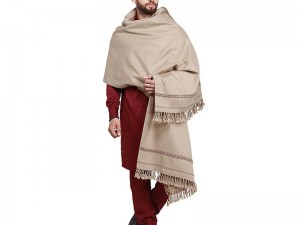 Traditional Men's Winter Wool Shawl - Silver Price in Pakistan