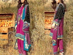 Digital Print Khaddar Dress with Pashmina Shawl