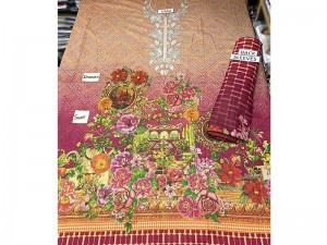 Unstitched Embroidered Dhanak Kurti Price in Pakistan