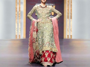 Heavy Handwork Embroidered Net Bridal Dress Price in Pakistan